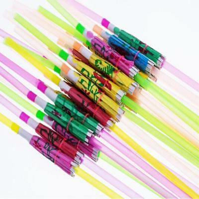 50x Cocktail Umbrella Straw Tropical Hawaiian Birthday Hen Party Accessories 8C