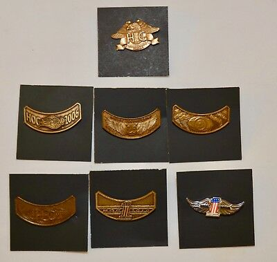 Harley Davidson HOG Pin Set Lot -2003,2005,2006,2007 Rocker Pins