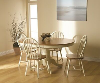 Rochester buttermilk, extendable Dining table, Classic finish. Free delivery.