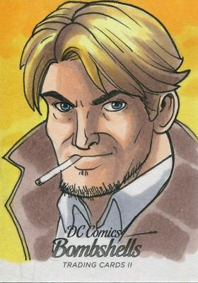 DC Comics Bombshells Series 2 Sketch Card By Rich Molinelli