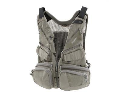 New SIMMS Waypoints Convertible Mesh Fly Fishing Vest $170 Graystone One Size