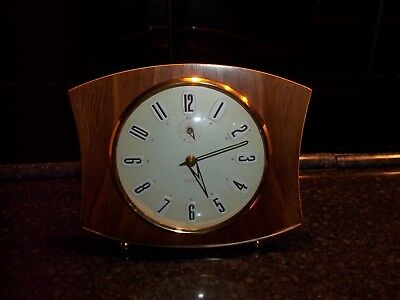 Smiths Retro Mantle Clock Circa 1960s Made in Great Britain spares or repairs