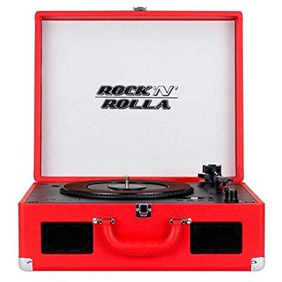 Rock 'N' Rolla XL - Portable Bluetooth USB Vinyl Record and CD Player Turntable