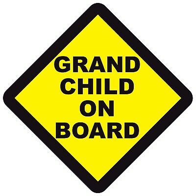 Grandson Baby on Board Sign for Car Twin Pack 2pcs Kids Safety Warning Car Signs