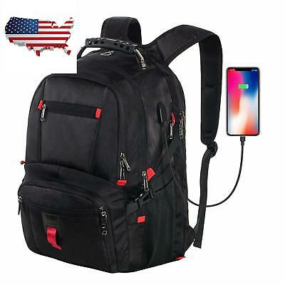 Laptop Bagpack for 17.3 Inch Notebook Waterproof with USB Port & Headphone Hole