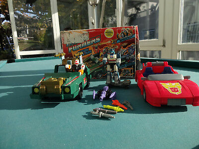 Transformers G1 Action Masters Attack Cruiser Turbo Racer Jazz Vintage
