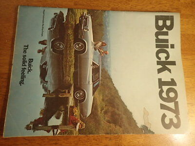 1973 Welcome To Buick Advertising Booklet