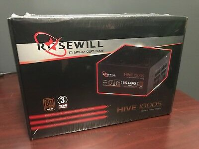 Rosewill Hive Series 1000W 1000S Modular Gaming Power Supply, 80 PLUS Bronze NEW