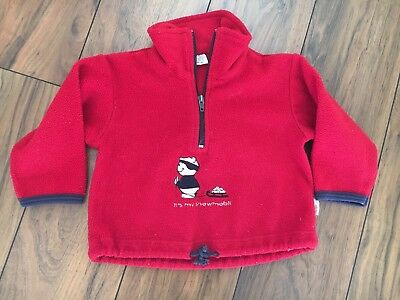 Fleece Pullover Rot Gr. 74 Shirt
