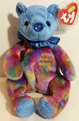"""TY Beanie Babies """"SEPTEMBER"""" the HAPPY BIRTHDAY Teddy Bear - MWMTs! PERFECT GIFT"""