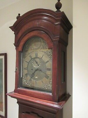 Stunning Antique Joseph Lum Grandfather / Longcase Clock