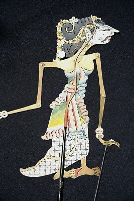 Vintage Old Wayang Kulit Leather Hand Painted Puppet Year of Living Dangerously