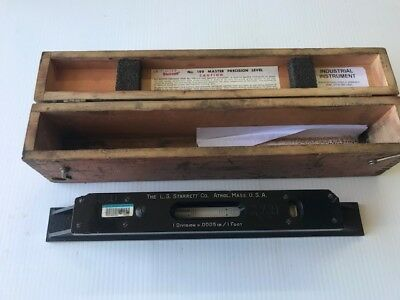 Starrett Model 199 15 inch Master Precision Level Machinist Pool table