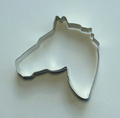 """4"""" Horse Head Tin Plated Steel Fondant R&M Cookie Cutter Rodeo Western Party"""