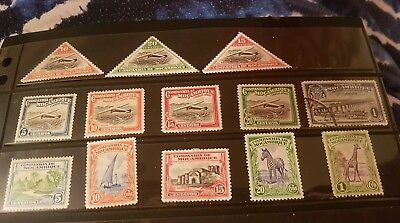 8 Mozambique Company Stamps SG 261/270  1935 Air Triangles + Others Mounted Mint