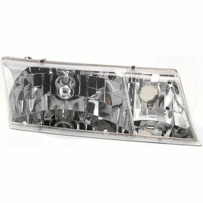 Headlight Set For 98-2002 Mercury Grand Marquis Left and Right With Bulb 2Pc