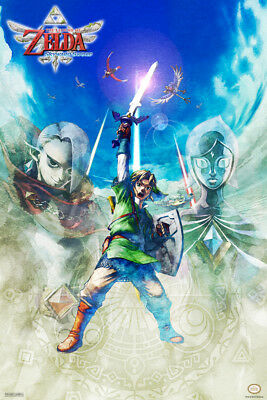 Legend of Zelda Skyward Sword Video Game Poster 12x18 Inch