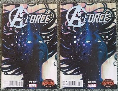(2) A-force #1 variant 1:25 Hans 1st appearance Singularity