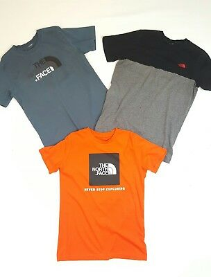 3 X Xl Boys 14 15 16 Designer North Face Crew Neck T-Shirts Gr8Cond Seeothritems