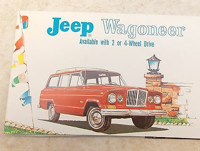 Vintage 1963 Kaiser JEEP Wagoneer Sales Brochure 2 or 4 Wheel Drive Toledo