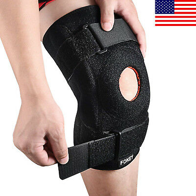 Knee Brace Sleeve Compression Adjustable Support Strap Patella Protector Wrap US