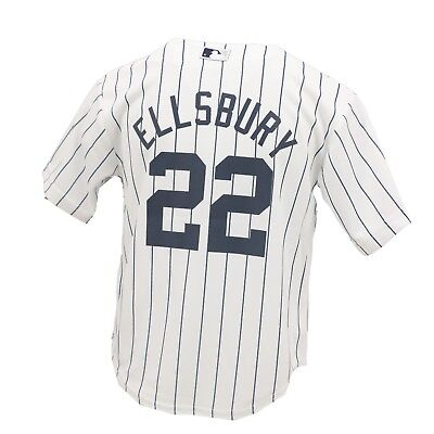 b3fbef60b New York Yankees MLB Majestic Cool Base Youth Kids Size Jacoby Ellsbury  Jersey