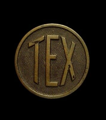 WWI US Texas Army National Guard TEX Enlisted Collar Disk – 36th Inf Division