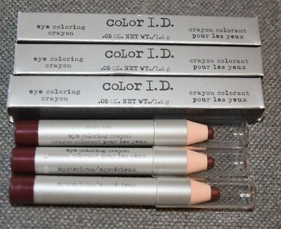 3 New in Box Mary Kay Color I.D. Eye Coloring Crayon Lot Mysterious 6812