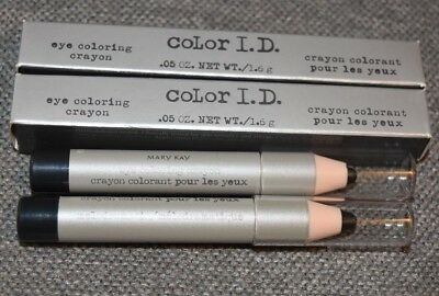 2 New in Box Mary Kay Color I.D. Eye  Coloring Crayon Lot Melodramatic 6810