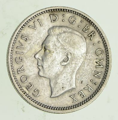 Roughly Size of Dime - 1945 Great Britain 6 Pence - World Silver Coin *279