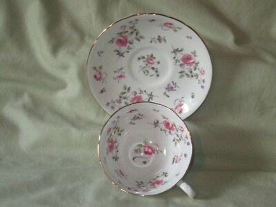 Vintage ROYAL CHELSEA England Bone China Floral Pattern Tea Cup and Saucer
