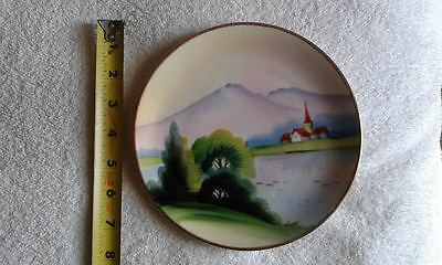 """Vintage Estate 7.5"""" Porcelain Hand-Painted Japanese Plate Dish Ta Marked"""