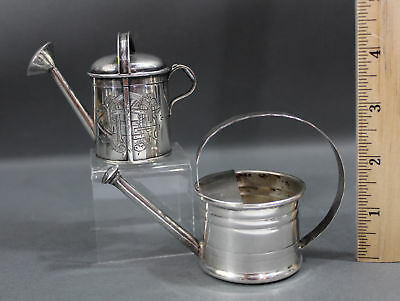 Antique  CARTIER & 19thC London Miniature Sterling Silver Watering Cans Box
