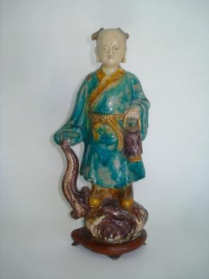 Fine Antique Chinese Pottery Deity Figure Ming Dynasty 17Th Cent