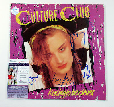 Boy George & Culture Club Signed Album Kissing To Be Clever 4 JSA AUTO DF019981