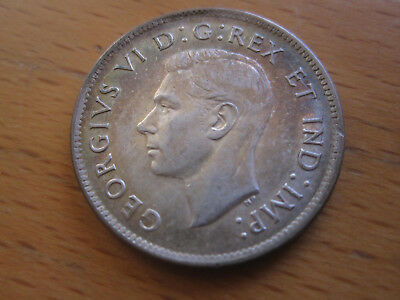 1938 Canada 25 Cent - Nice Toned King George VI Silver Quarter