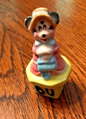 """2""""  Minnie Mouse figurine celebrating 60 years made by Schmid"""
