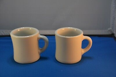 2 - Victor Heavey Restaurant Coffee Mugs, excellent condition 1950's