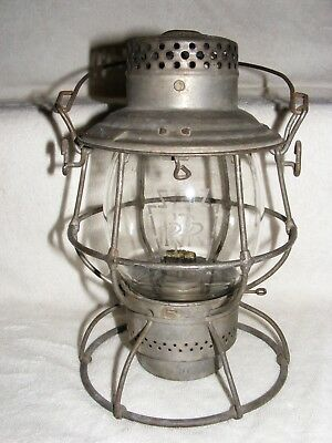 Antique Adams&Westlake Adlake Pennsylvania Railroad Kerosene Lamp Lantern