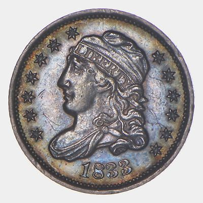 1833 Capped Bust Half Dime - Toned *5824