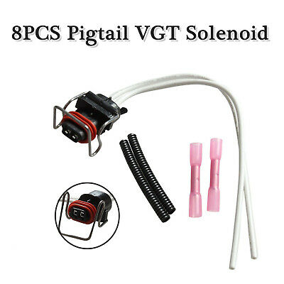 8PC REPAIR HARNESS PIGTAIL IPR VGT Fit Ford vgt and ipr connector pigtail harness for ford 6 0l 7 3l powerstroke