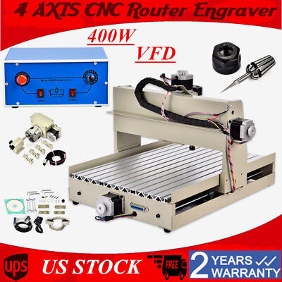 4AXIS3040 CNC Router Engraver Engraving Cutter T-Screw Desktop Cutting 400W SALE