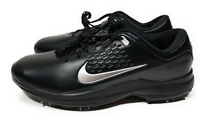1ef542791f972 Nike Air Zoom TW71 Tiger Woods Mens Golf Shoes Black Metallic Silver Size 10