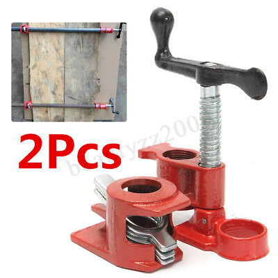 2x 1/2'' Heavy Duty Cast Iron Quick Release Pipe Clamp Wood Gluing  new