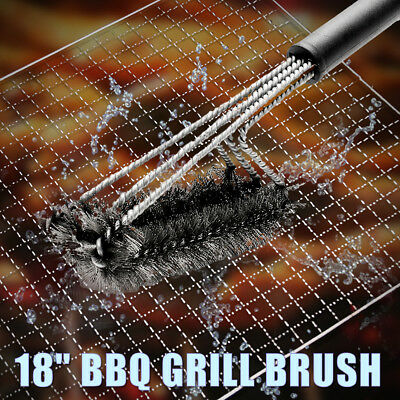 18'' Stainless Steel BBQ Grill Brush Barbecue 360º Clean Tool Woven Wire  new