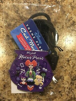 """Disney Cast Member """"IT'S JUST A BUNCH OF HOCUS POCUS"""" Bolo Lanyard Limited LR"""