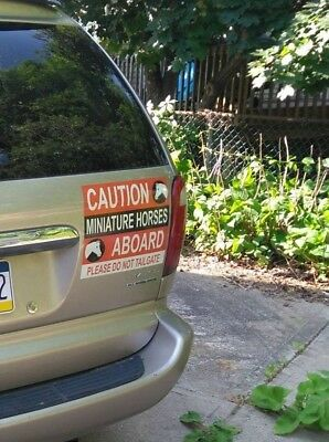 Caution Miniature Horses Vehicle Sign