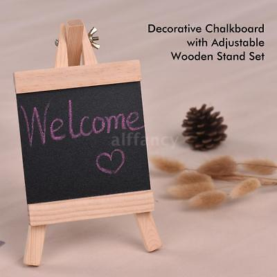 6pcs Wooden Blackboard Table Board Adjustable Kid Easel Decorative Chalkboard