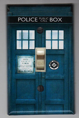 Doctor Who Tardis Light Switch Cover Plate - FREE SHIPPING