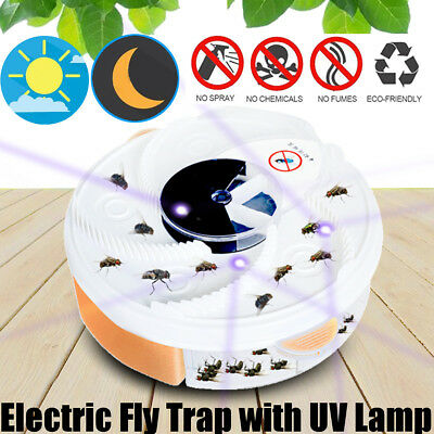 Electric Fly Trap Device Insect Killer Catcher USB Automatic Flycatcher UV Lamp